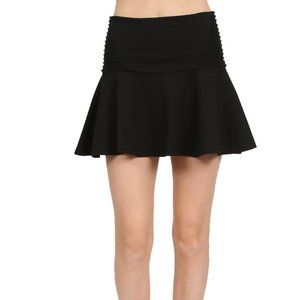 New Parker Black XS Mini Skirt, Stretch Jersey